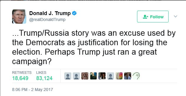 Russian Story Excuse for Democrats losing election